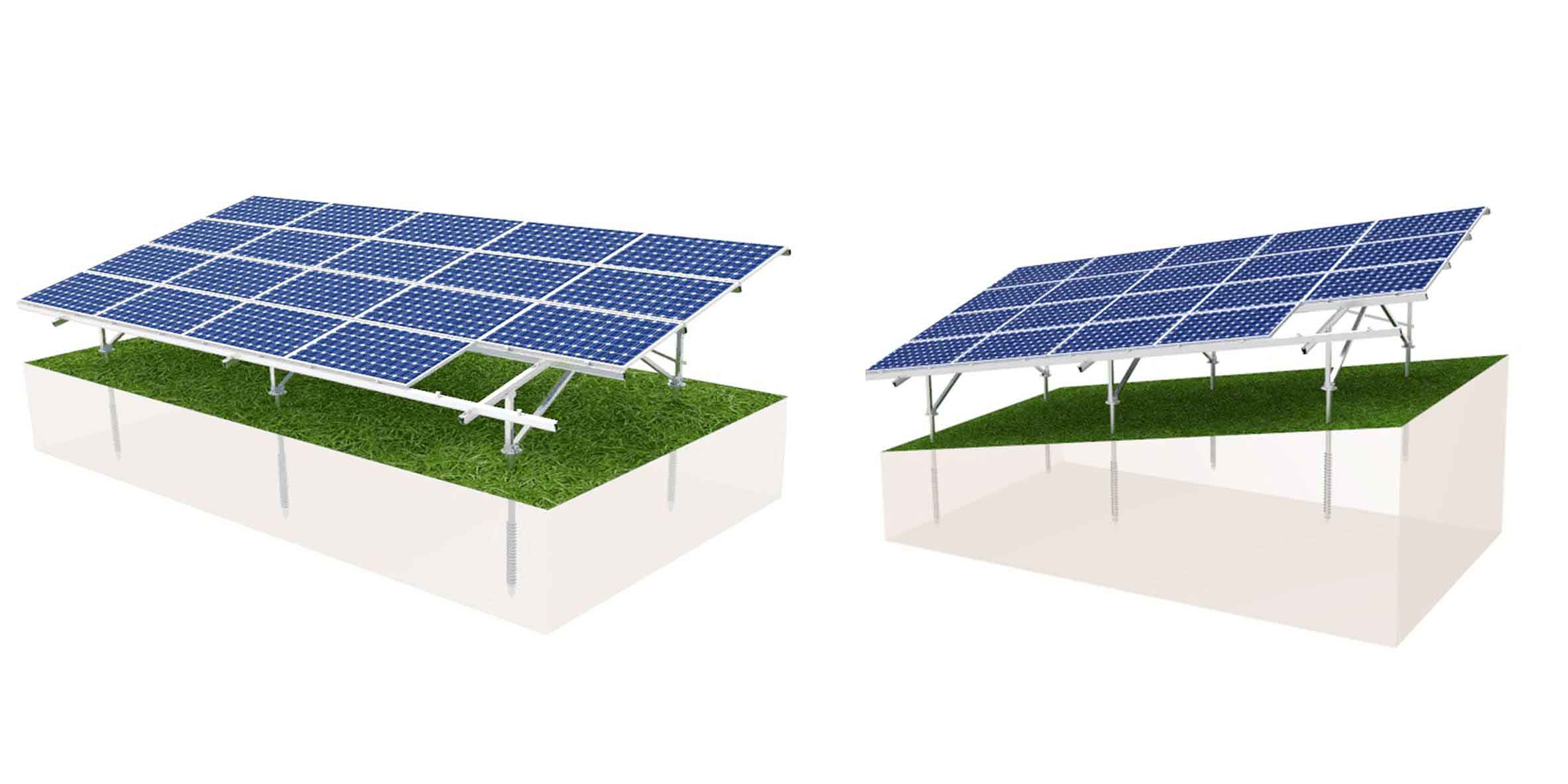 Ground solar mounting structure for sales